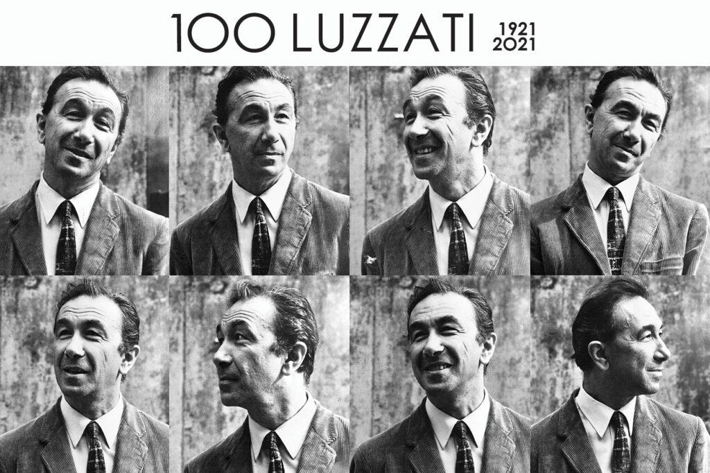 fotografie del volto di Luzzati con diverse espressioni