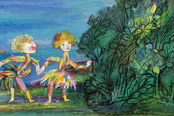 Papageno e Papagena in un'illustrazione di Emanuele Luzzati