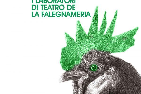 gallo disegnato a matita con cresta verde